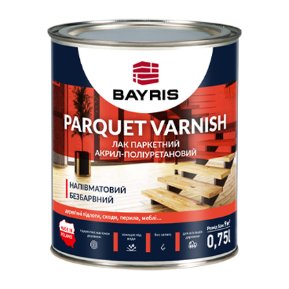 "Лак паркетний ""PARQUET VARNISH"". Напівматовий"