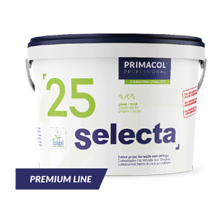 Selecta 25 Premium. Латексна фарба (Глянцева, База C) Primacol Professional