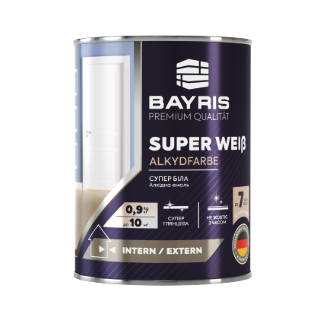 Алкидная эмаль SUPER WEIß - Супер Белая (Универсальная, глянцевая) Bayris