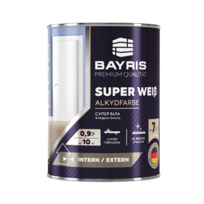 Алкидная эмаль SUPER WEIß - Супер Белая (Универсальная, глянцевая)