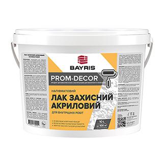 Лак захисний акриловий (напівматовий). Prom-Decor Bayris