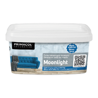Moonlight Silver Base. Декоративная краска Primacol Decorative